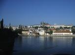 Prag: Blick über die Moldau zum Hradschin mit der Prager Burg (2004)