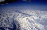 Blick über das Wallis in der Schweiz, hinten das Rhonetal (1999)