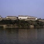 Festung Peterwardein über der Donau in Serbien (1990)