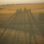 Kamelritt bei Sonnenaufgang in Südtunesien (1998)
