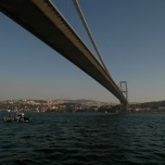 Brücke über den Bosporus bei Istanbul (2014)
