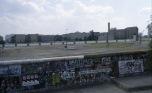 Bild der Berliner Mauer mit Todesstreifen beim Potsdamer Platz 80er Jahre