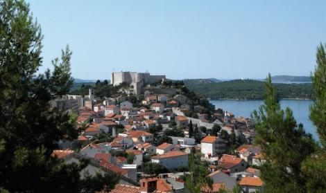 Sibenik: Blick zur Festung St. Michael