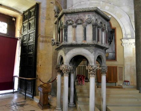 Split: Diokletianspalast - Kathedrale Kanzel (2016)