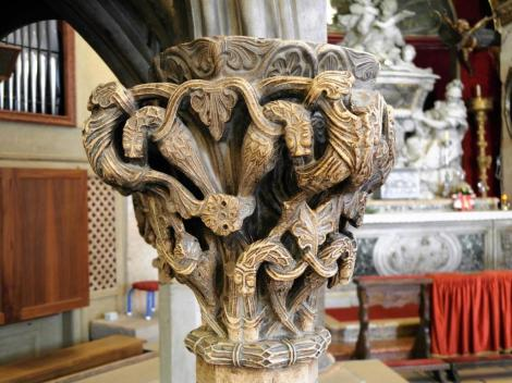 Split: Diokletianspalast - Kathedrale Kanzel Kapitell (2016)