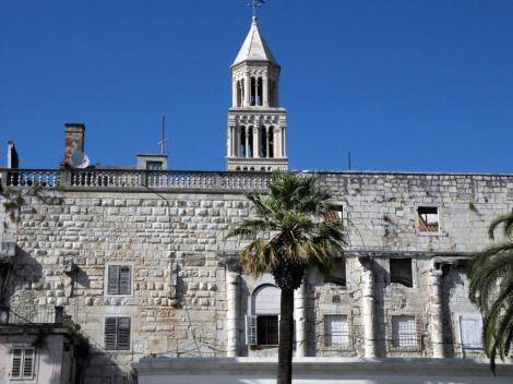 Split: Diokletianspalast - Südmauer mit Seetor (2016)
