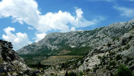 Bild der Landschaft südlich Split