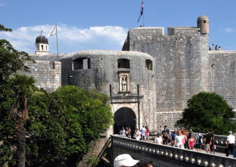 Dubrovnik: Stadtmauer - Pile-Tor (2015)