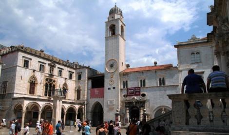Dubrovnik: Sponza-Palast und Uhrturm (2015)