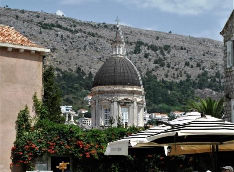 Dubrovnik: Blick vom Boskovicplatz zur Kathedrale (2015)