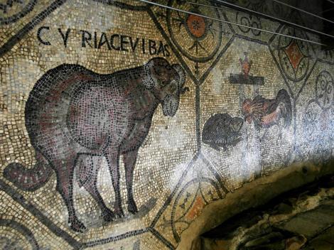 Aquileia: Dom - Fußbodenmosaik [Nordhalle] [Krypta der Ausgrabungen] (2017)
