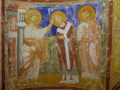 Aquileia: Dom - Krypta [Petrus weiht Bf. Hermagoras in Gegenwart von Markus] (2017)