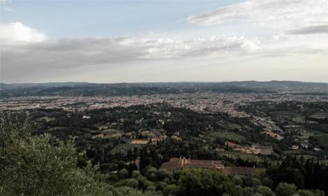 Blick aus Fiesole auf Florenz (2017)