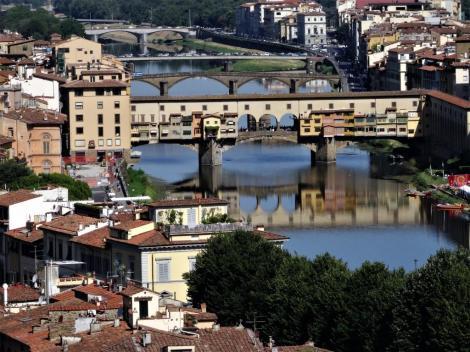 Blick vom Michelangelo-Platz zum Ponte Vecchio (2017)