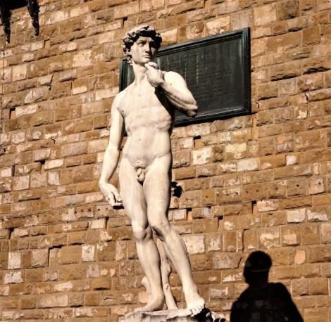 """Kopie des """"David"""" von Michelangelo vor dem Palazzo Vecchio (2017)"""