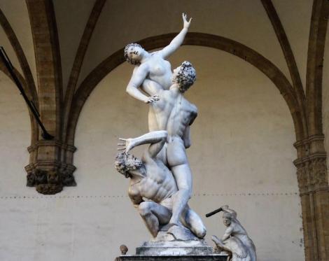 """Loggia dei Lanzi: """"Raub der Sabinerinnen"""" von Giambologna (2017)"""