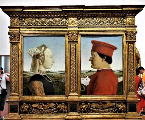 """Uffizien: """"Herzogspaar von Urbino"""" von Piero della Francesca (2017)"""