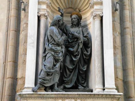 """Orsanmichele: """"Christus und der ungläubige Thomas"""" von Verrocchio (2017)"""