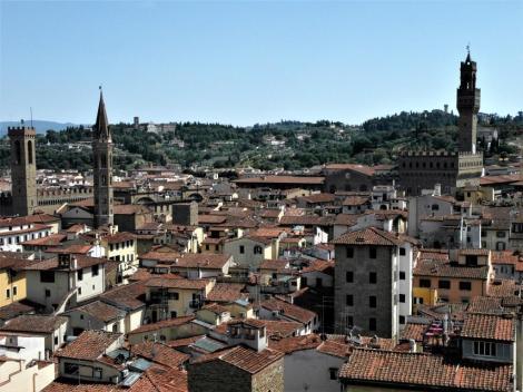 Blick vom Campanile zum Bargello und zum Palazzo Vecchio (2017)