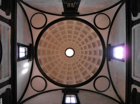 San Lorenzo: Neue Sakristei - Kuppel [von Michelangelo] (2017)