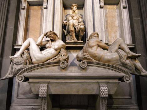 San Lorenzo: Grabmal Guliano de Medicis, Sohn Lorenzos in der Neuen Sakristei [von Michelangelo] (2017)