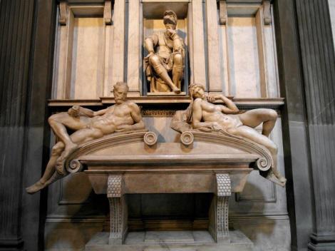 San Lorenzo: Grabmal Lorenzo de Medicis in der Neuen Sakristei [von Michelangelo] (2017)