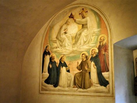 """San Marco: Zelle 9 """"Krönung Mariä"""" von Fra Angelico (2017)"""