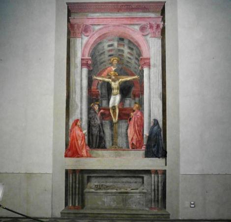 """Santa Maria Novella: """"Dreifaltigkeit"""" von Masaccio (2017)"""