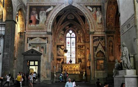 Santa Croce: Portal von Michelozzo und Capella Baroncelli (2017)