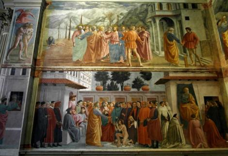 Santa Maria del Carmine: Brancacci-Kapelle, linke Wand mit Fresken von Masaccio (2017)