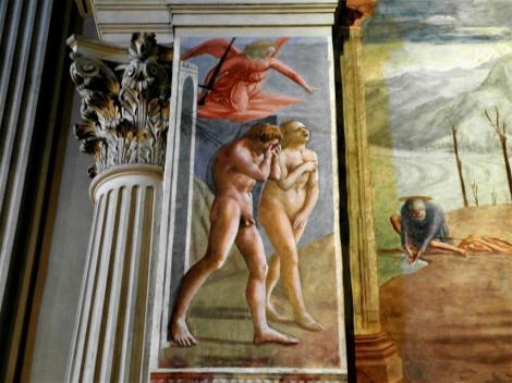 """Santa Maria del Carmine: Brancacci-Kapelle - """"Vertreibung aus dem Paradies"""" von Masaccio (2017)"""