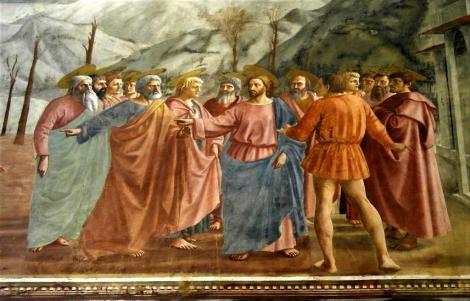 "Santa Maria del Carmine: Brancacci-Kapelle - ""Tempelsteuer"" von Masaccio (2017)"