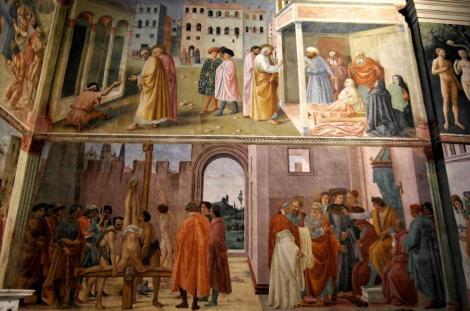 Santa Maria del Carmine: Brancacci-Kapelle, rechte Wand (2017)