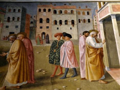 "Santa Maria del Carmine: Brancacci-Kapelle - Ausschnitt aus der ""Lahmenheilung"" (2017)"