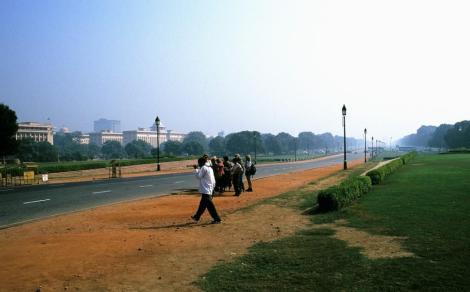 "Delhi: Straße ""Rajpath"" in Neu-Delhi (2000)"