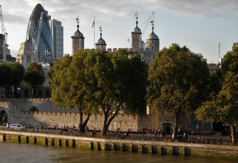 Blick von der Towerbridge zum Tower (2014)