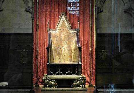 Westminster Abtei: Krönungsstuhl (2014)