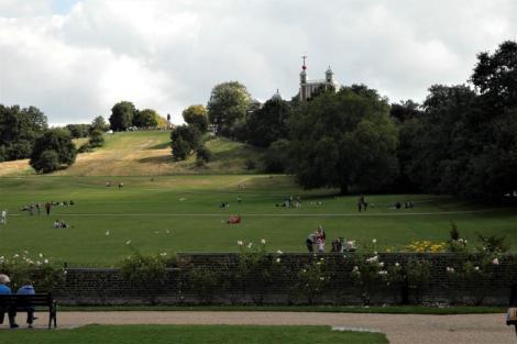 Greenwich: Blick zum Observatorium (2014)