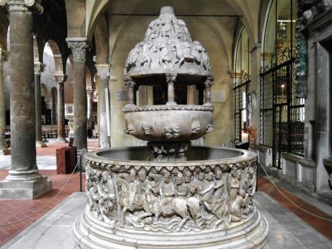 Kirche San Frediano: Taufbecken (2017)
