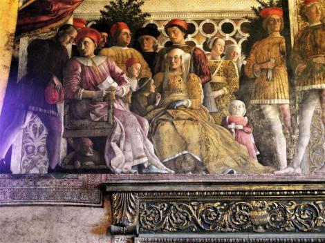 Kastell: Camera degli Sposi [Ehegemach] - Fresko von Mantegna (2017)