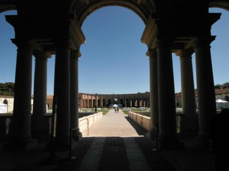 Palazzo Te: Blick aus der David-Loggia zur Exedra (2017)