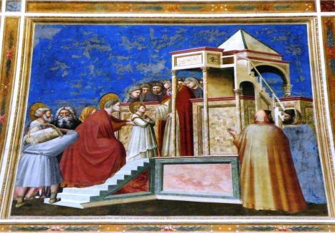 "Arenakapelle - Nordwand: ""Tempelgang Marias"" von Giotto (2017)"