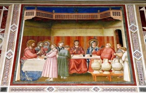 """Arenakapelle - Nordwand: """"Die Hochzeit zu Kana"""" von Giotto (2017)"""