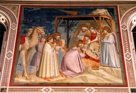 """Arenakapelle - Südwand: """"Anbetung der Könige"""" von Giotto (2017)"""