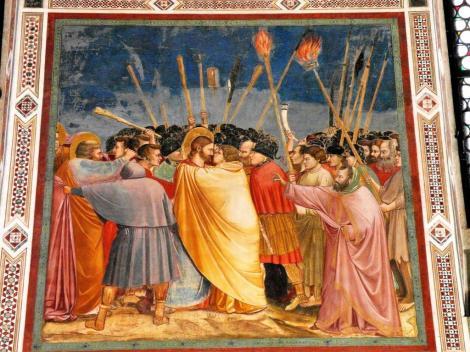 """Arenakapelle - Südwand: """"Der Judaskuss"""" von Giotto (2017)"""