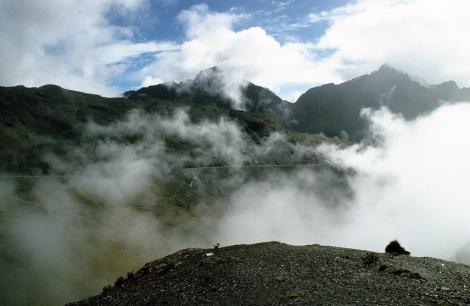 Blick vom Paso La Cumbre in der Cordillera Real (2005)