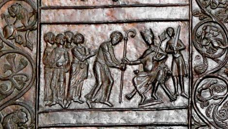Gnesen [poln. Gniezno]: Dom - romanisches Bronzeportal mit Szenen aus dem Leben von Adalbert (2012)