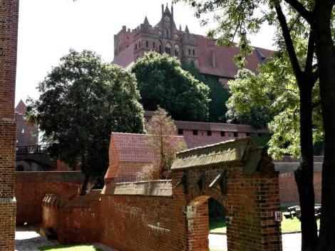 Bild der Marienburg, Malbork - Blick zum Hochschloss