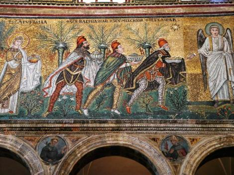 Sant' Appolinare Nuovo: linke Seite - Drei Könige (2017)