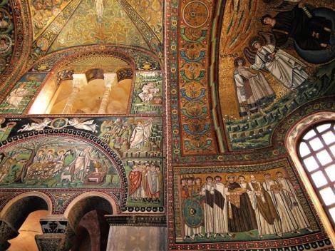 San Vitale: Mosaiken im Chor, linke Seite (2017)